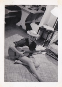 sue with guitar
