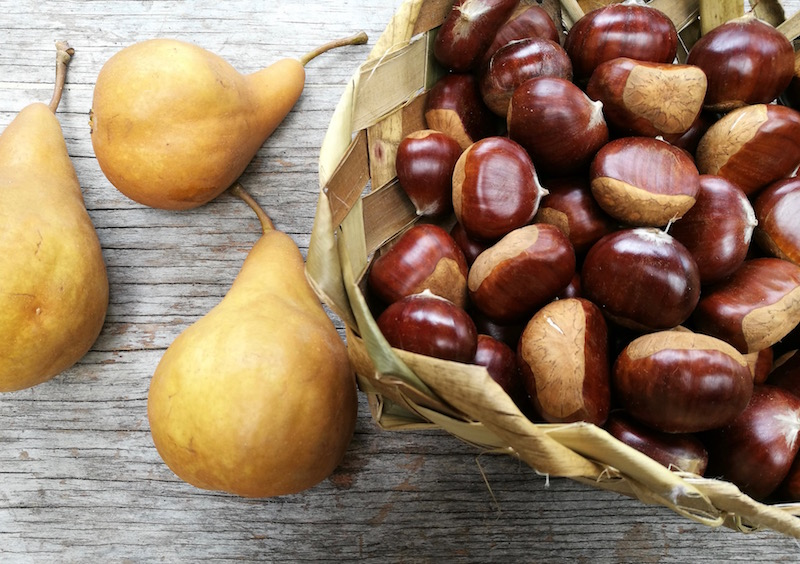 chestnuts and pears